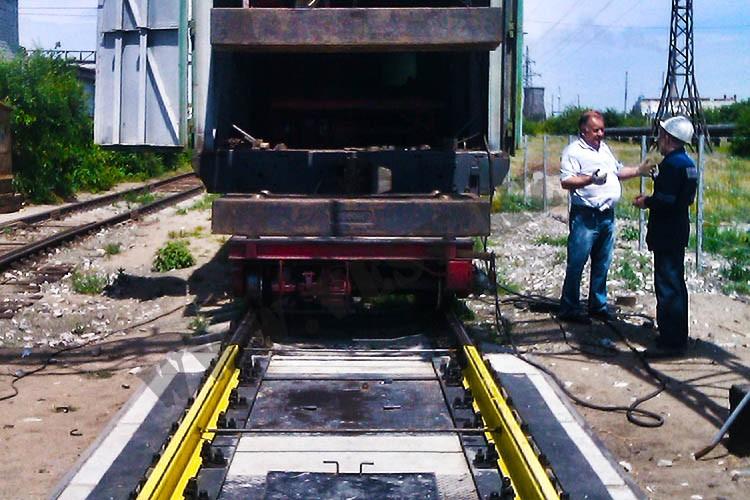 Система взвешивания и осмотра вагонов